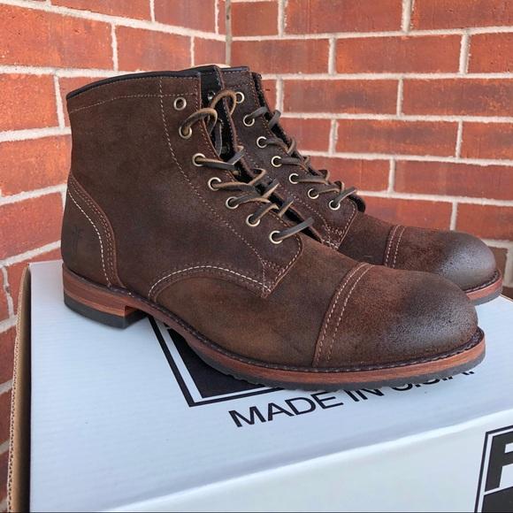 3353d5c2cba NWB Men's Frye Logan Cap Toe Leather Boots NWT